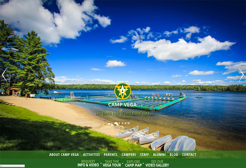 Camp Vega Website