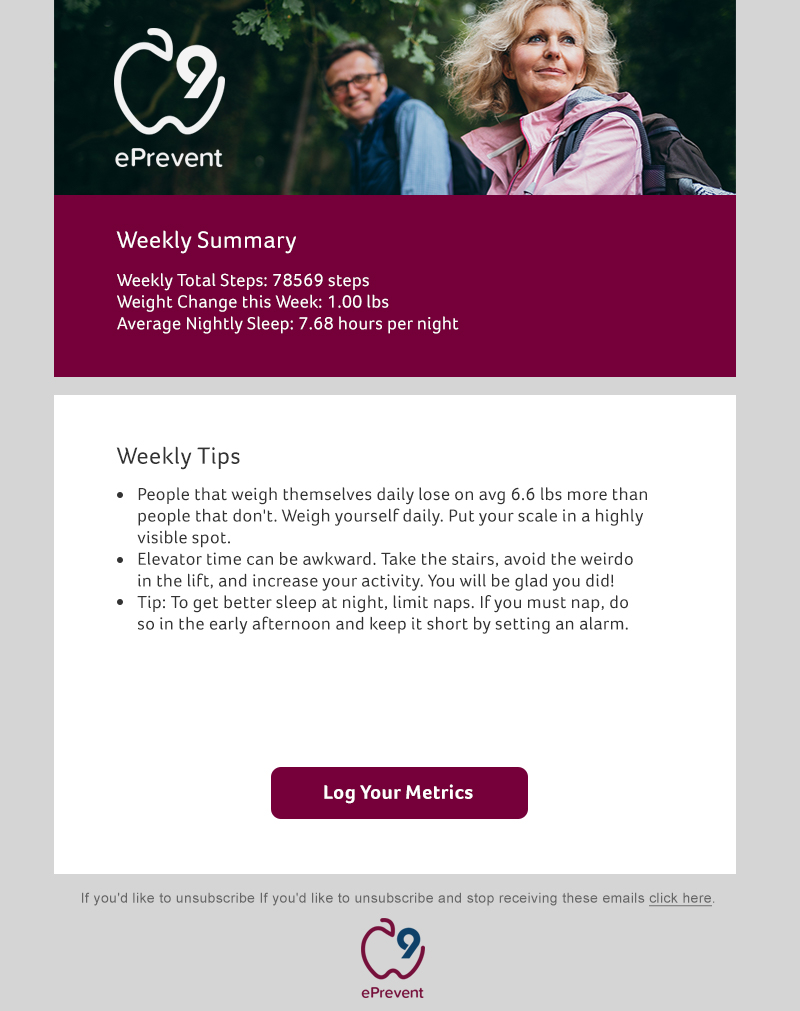 9 News Health Weekly Email